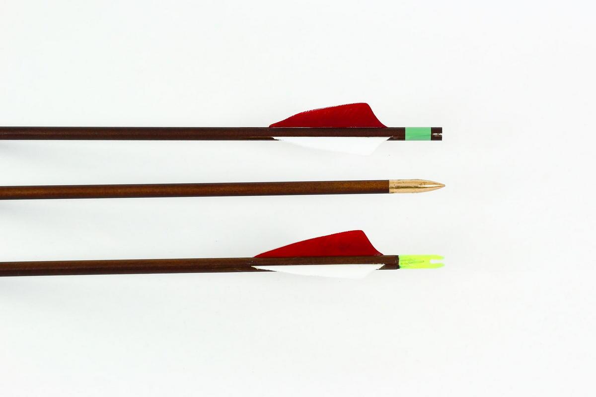 Lazecký dřevěný šíp EXTRA Brown 650