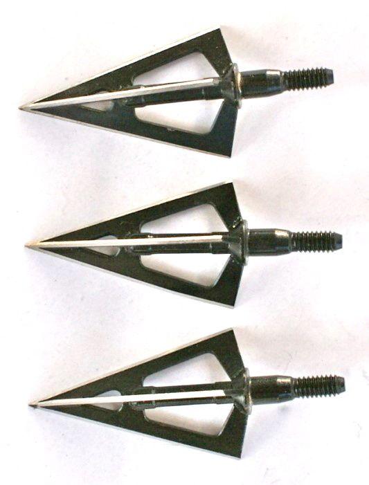 Lovecké hroty ocelové k šípům 3ks