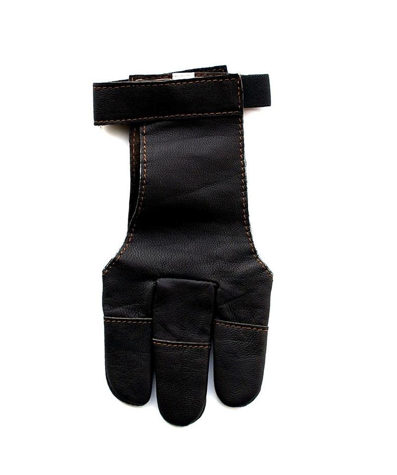 Střelecká rukavice - hnědá kůže