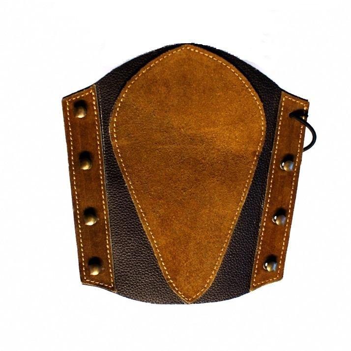 Lazecký chránič předloktí kožený - vzor 1